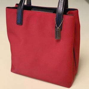🌟HOST PICK🌟 COACH Vintage Red Mercer Nylon Tote